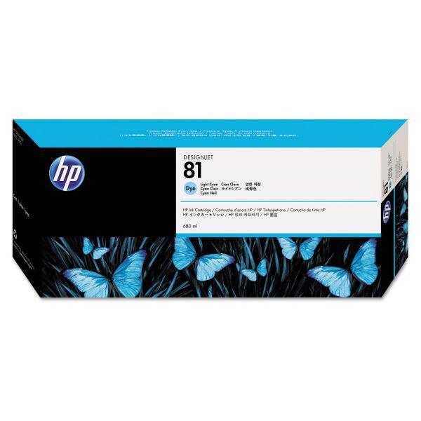 HP 81 Light Cyan Dye Ink Cartridge (C4934A)