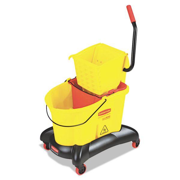 Rubbermaid Wavebrake Dual Water Side Press Mop Bucket & Wringer