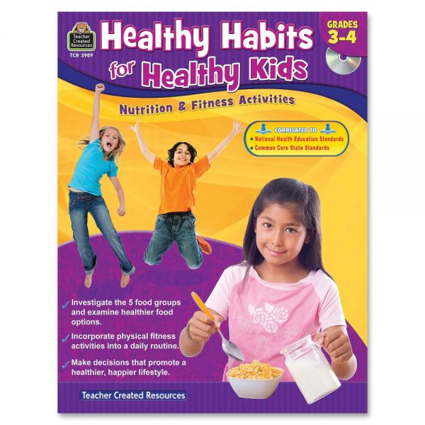 Teacher Created Resources Gr 3-4 Healthy Habits Workbk Education Printed/Electronic Book
