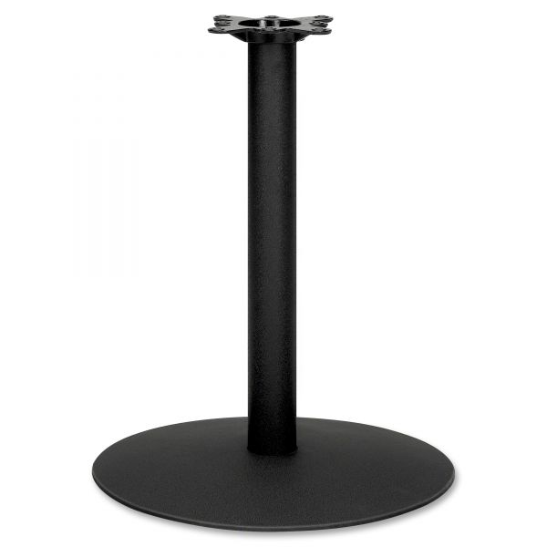 "HON Single Column Hospitality Base, 22"" dia. x 27-7/8h, Black"