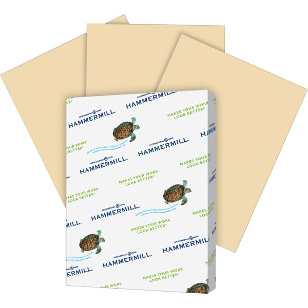 Hammermill Recycled Colored Paper, 20lb, 8-1/2 x 11, Tan, 500 Sheets/Ream