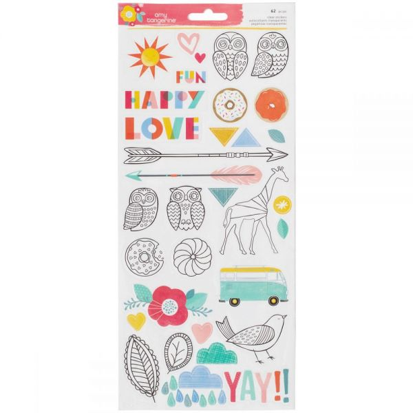 "Amy Tan Oh Happy Life Stickers 6""X12"" 2/Pkg"