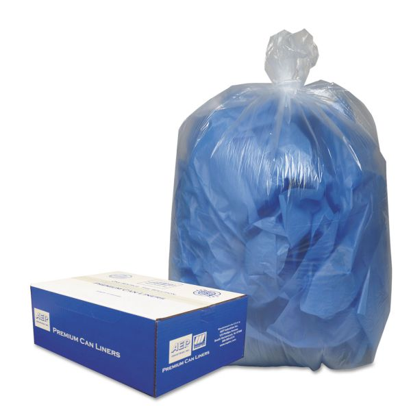 Webster Clear Linear 10 Gallon Trash Bags