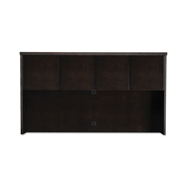 Mayline Mira Series Wood Veneer Hutch Doors, 17-1/2w x 19h, Espresso