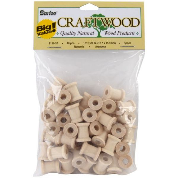 Darice Craftwood Spool Turnings