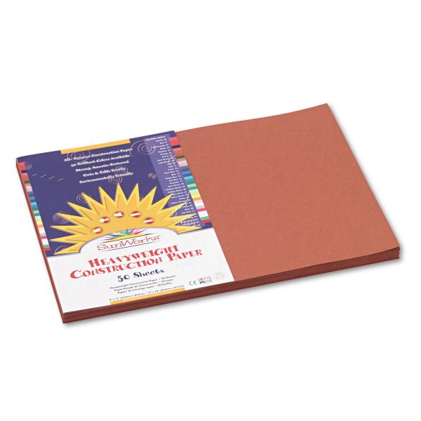 SunWorks Heavyweight Brown Construction Paper