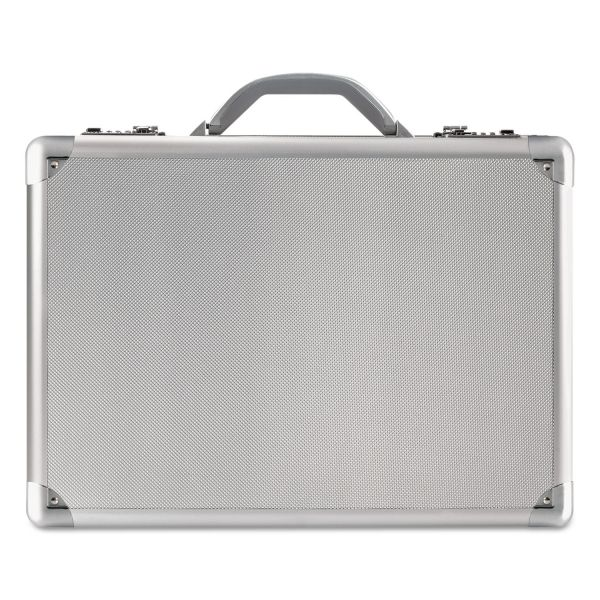 "Solo Classic Carrying Case (Attaché) for 17"" Notebook, Tablet PC, Digital Text Reader - Silver"