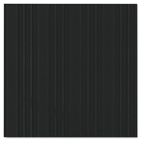 Crown Ribbed Vinyl Anti-Fatigue Mat, 36 x 60, Black