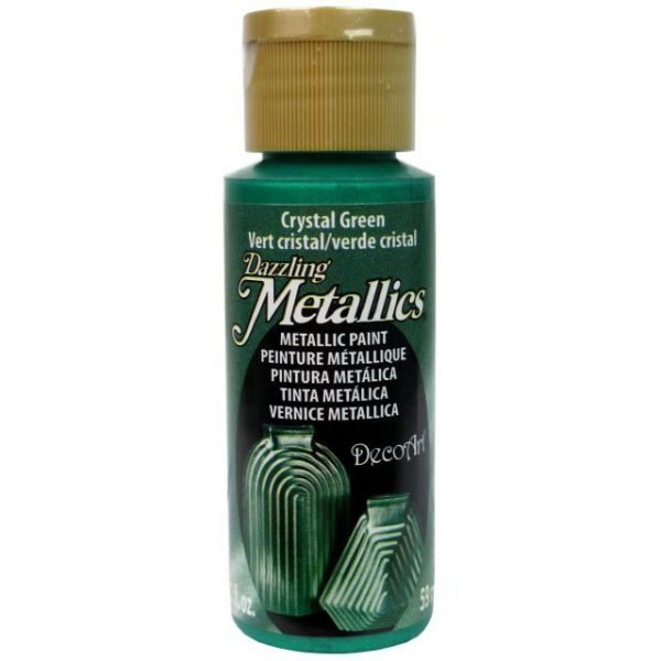 Deco Art Crystal Green Dazzling Metallics Acrylic Paint
