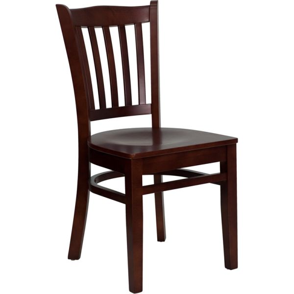 Flash Furniture Vertical Slat Back Wooden Restaurant Chair