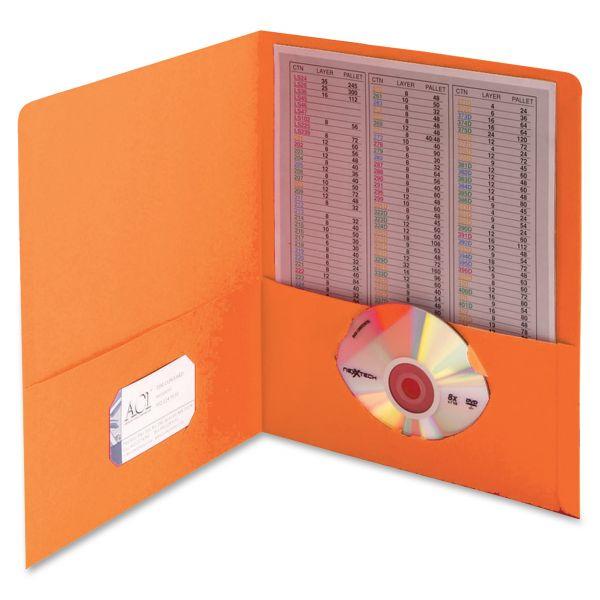 Smead 87858 Orange Two-Pocket Heavyweight Folders