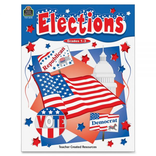 Teacher Created Resources Grades 1-3 US Elections Book Politics Printed Book