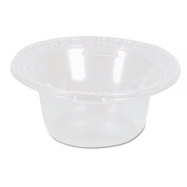 Dixie Plastic Dessert Dishes, Clear, 5oz, 100/Pack, 10/Carton