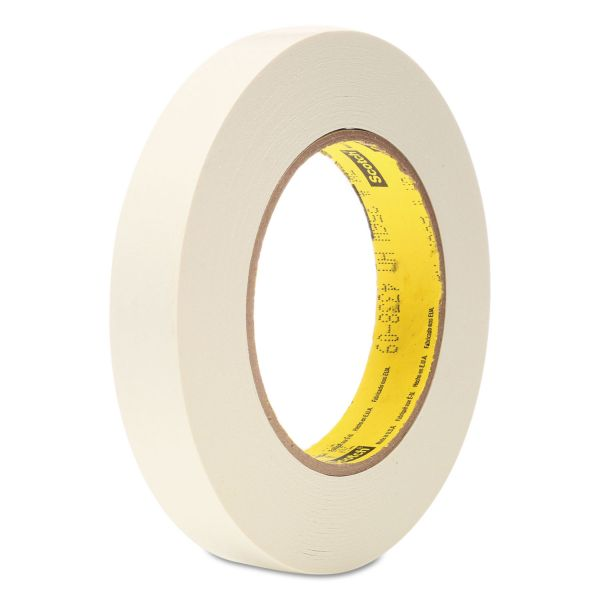 "Scotch 256 Printable Flatback Paper Tape, 3/4"" x 60yds, 3"" Core, White"