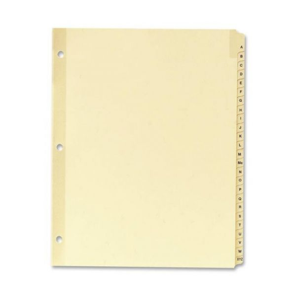 Sparco Alphabet Tab Index Dividers