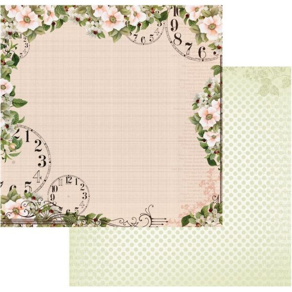 "Vintage Rose Garden Double-Sided Paper 12""X12"""