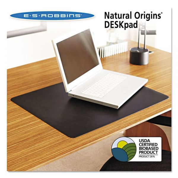ES Robbins Natural Origins Desk Pad, 19 x 12, Matte, Black