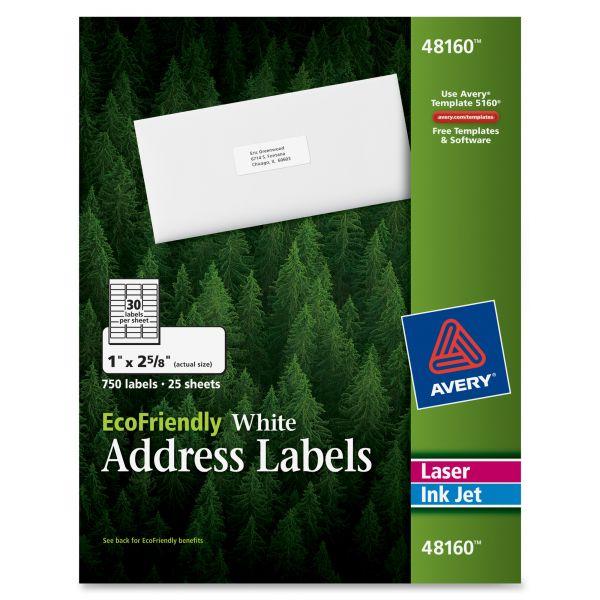 Avery 48160 EcoFriendly Address Labels