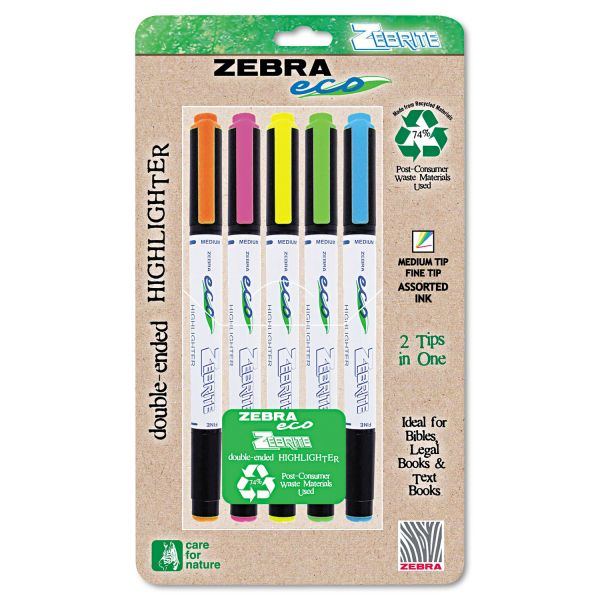 Zebra Double-Ended Highlighters