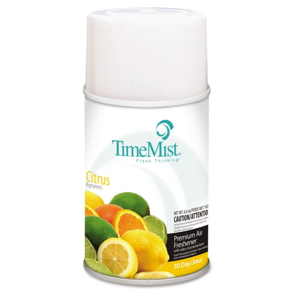 TimeMist Metered Fragrance Dispenser Refill, Citrus, 6.6oz, Aerosol