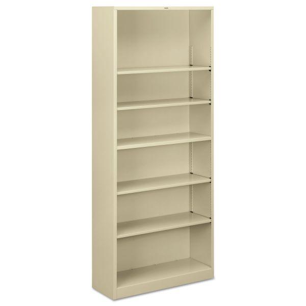 "HON Brigade Steel Bookcase | 6 Shelves | 34-1/2""W"