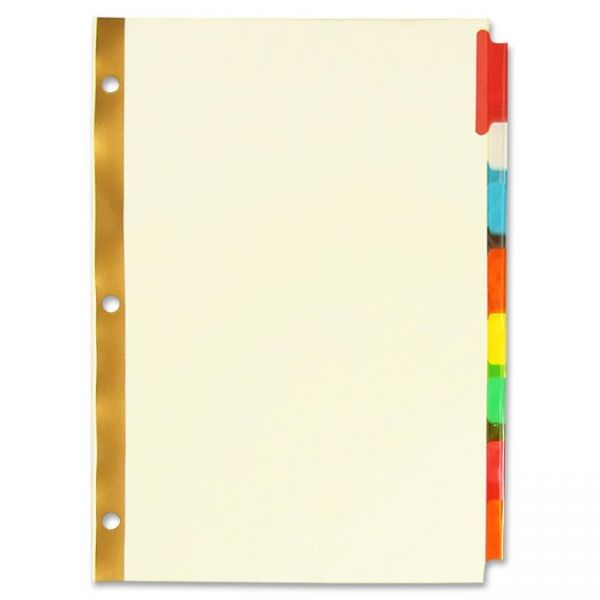 Sparco Premium Reinforced Insertable Tab Index Dividers