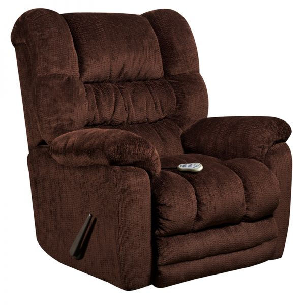 Flash Furniture Massaging Temptation Mahogany Microfiber Rocker Recliner with Heat Control