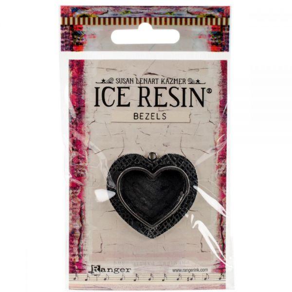 Ice Resin Milan Bezels Closed Back Heart Medium
