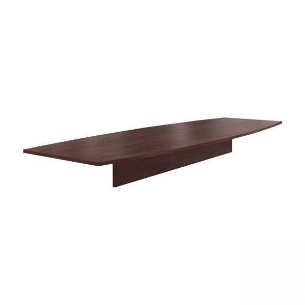 "HON Preside Laminate Table Top | Boat Shape | 144""W 