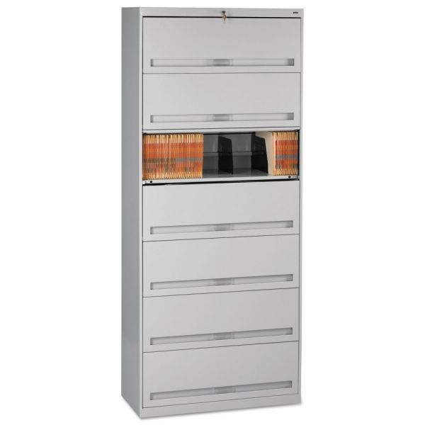 Tennsco Closed Fixed Shelf Lateral File, 36w x 16 1/2d x 87h, Light Gray