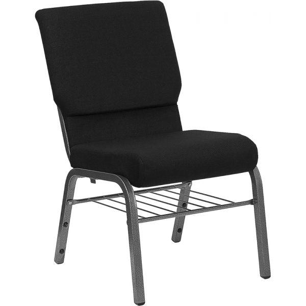 Flash Furniture Black Fabric Big & Tall Church Chair