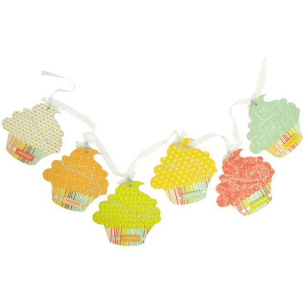 Beyond The Page MDF Cupcake Pennant 6/Pkg