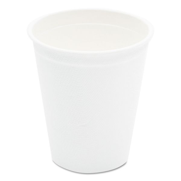 NatureHouse Compostable Sugarcane Bagasse Hot Cups, 9oz, White, 1000/Carton