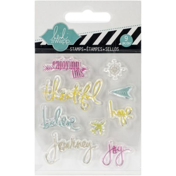 "Heidi Swapp Mixed Media Clear Mini Stamps 3""X3.5"""