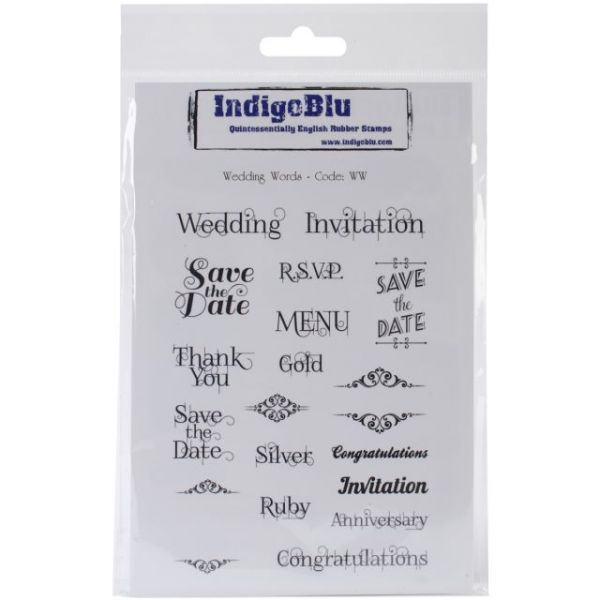 "IndigoBlu Cling Mounted Stamp 7""X5"""