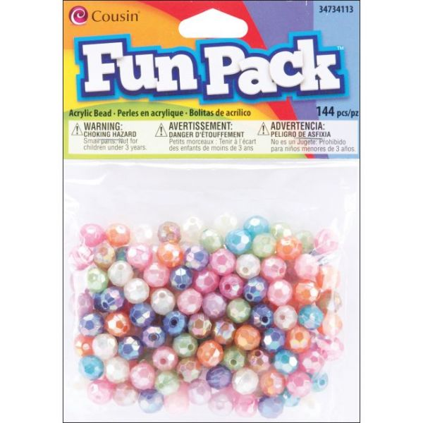 Fun Pack Acrylic Faceted Beads