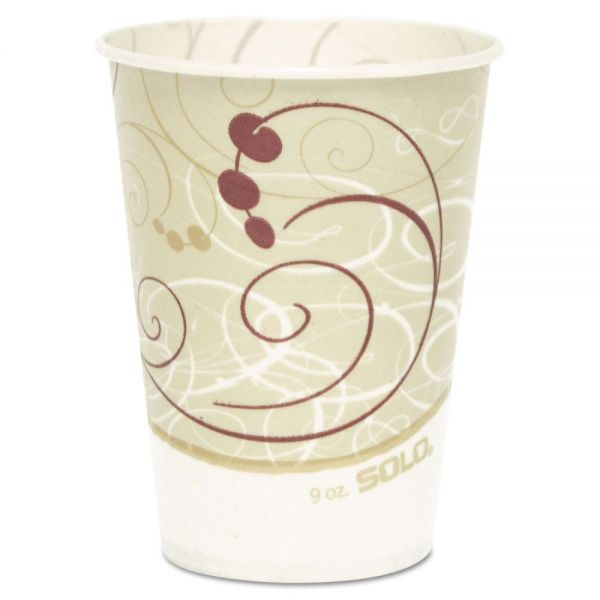 Dart Waxed Paper Cold Cups, 9 oz., Symphony Design, 100/Bag