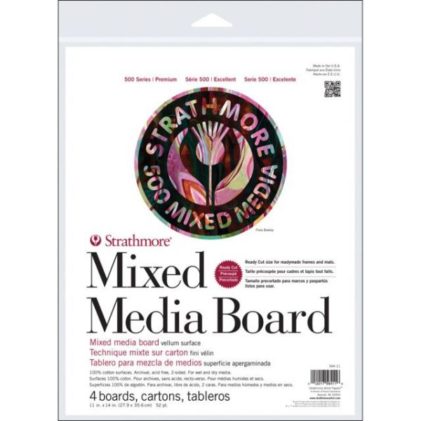 Strathmore Mixed Media Boards 4/Pkg