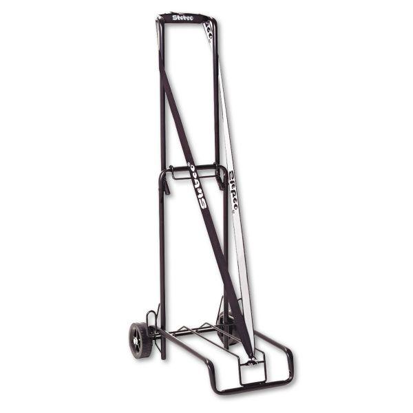 Luggage Cart, 125lb Capacity, 13 x 10 Platform, Black Steel