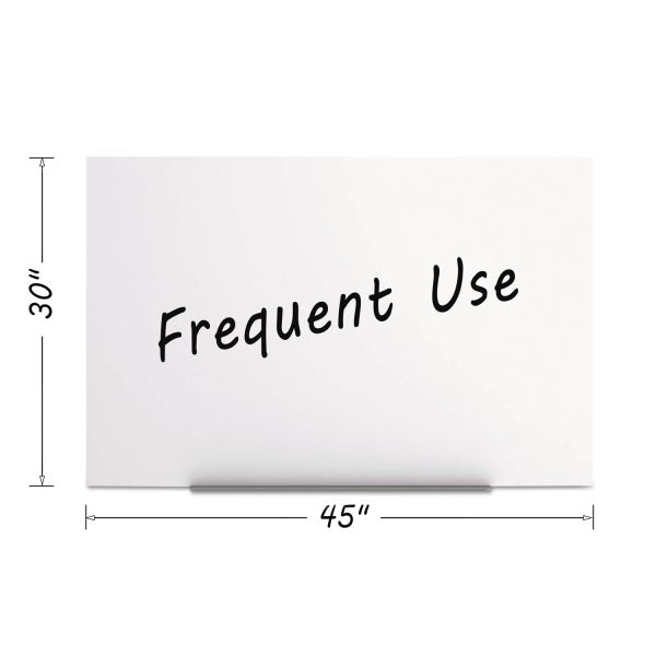 MasterVision Magnetic Dry Erase Tile Board, 29 1/2 x 45, White Surface