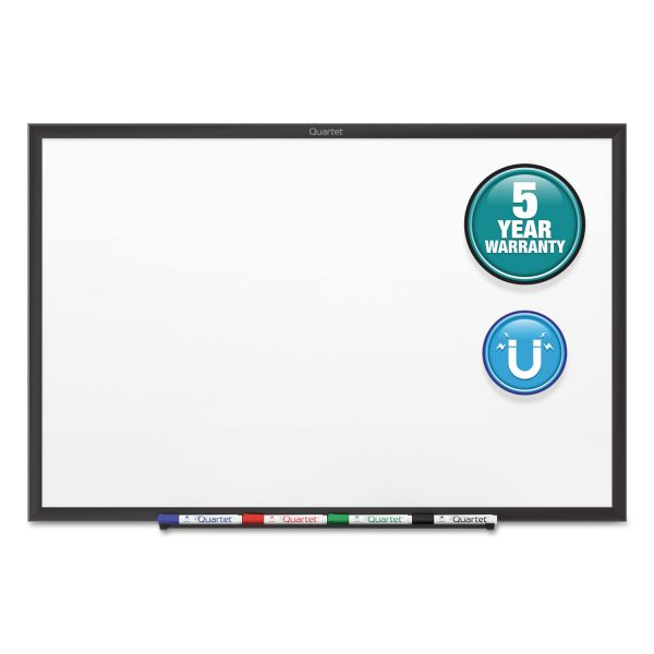 Quartet Classic Series Magnetic Whiteboard, 96 x 48, Black Aluminum Frame
