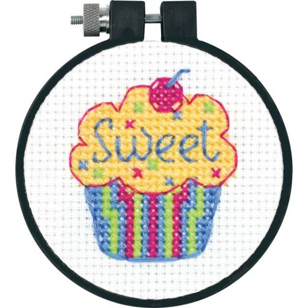 Learn-A-Craft Cupcake Counted Cross Stitch Kit