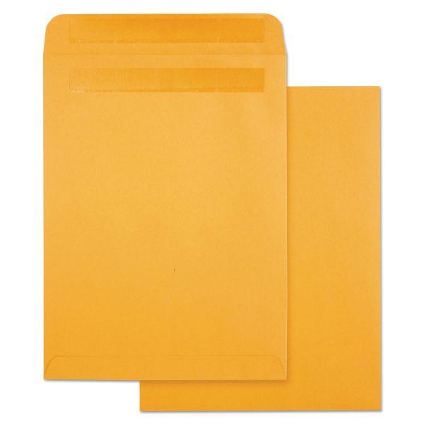 Quality Park High Bulk Self Sealing Envelopes, 10 x 13, Kraft, 100 per Box