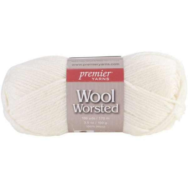 Premier Wool Worsted Yarn - Soft White
