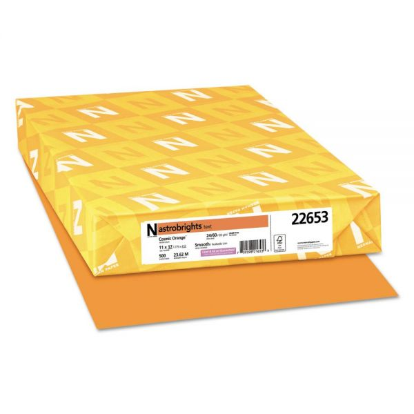 Astrobrights Color Paper, 24lb, 11 x 17, Cosmic Orange, 500 Sheets