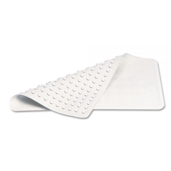 Rubbermaid Commercial Safti-Grip Latex-Free Vinyl Bath Mat, 14 x 22.5, White