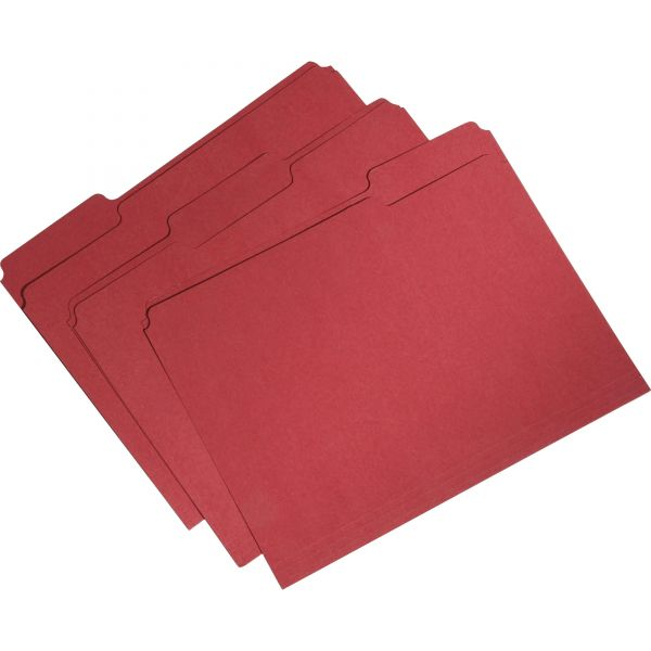 Skilcraft Recycled Red Colored File Folders