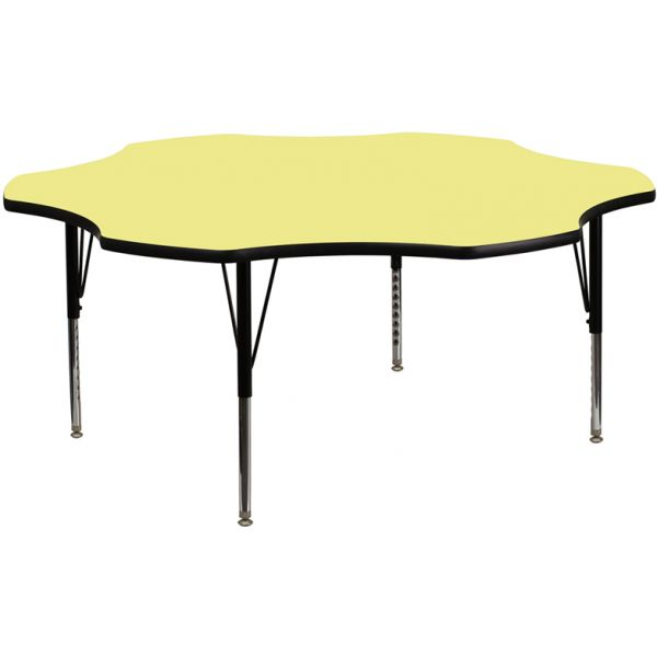 Flash Furniture Height Adjustable Flower Shaped Activity Table