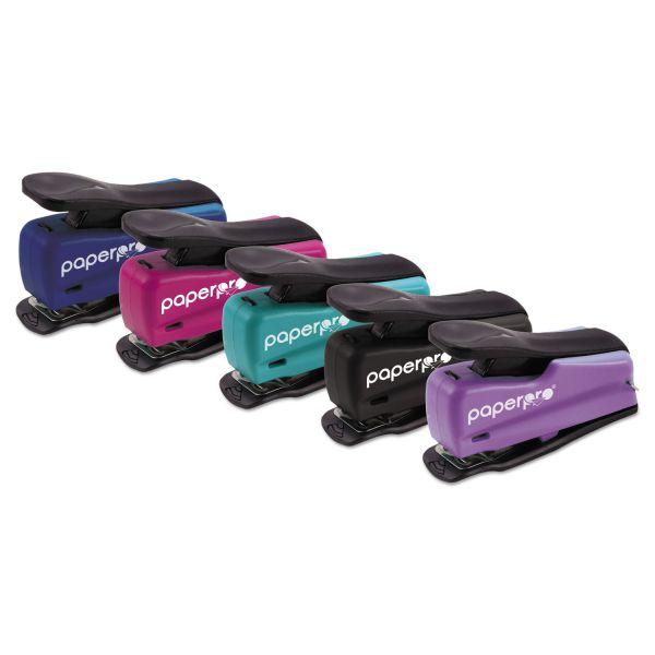 PaperPro inJOY 12 Nano Mini Stapler, 12-Sheet Capacity, Assorted Translucent Set