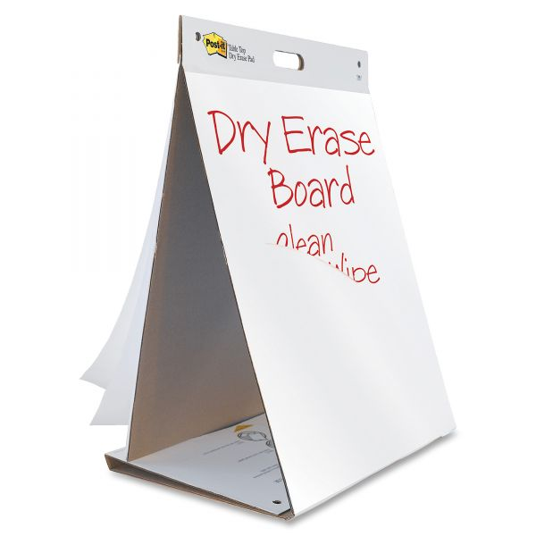 Post-it Self-Stick Tabletop Easel Pads with Dry Erase, 20 in x 23 in, White